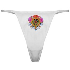 Ship's Wheel Nautical Floral Classic Thong