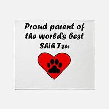 Shih Tzu Parent Throw Blanket