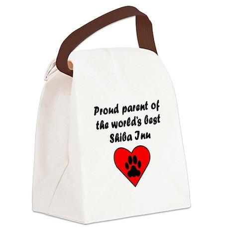 Shiba Inu Parent Canvas Lunch Bag