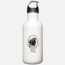 Lifes Better Pug Water Bottle