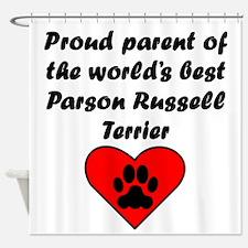 Parson Russell Terrier Parent Shower Curtain