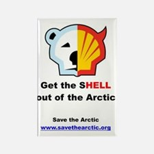 Get the shell out of the arctic Rectangle Magnet
