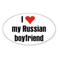 Russian Boyfriend Oval Decal