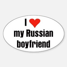Russian Boyfriend Oval Decal