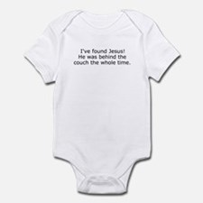 Jesus behind the couch Infant Bodysuit