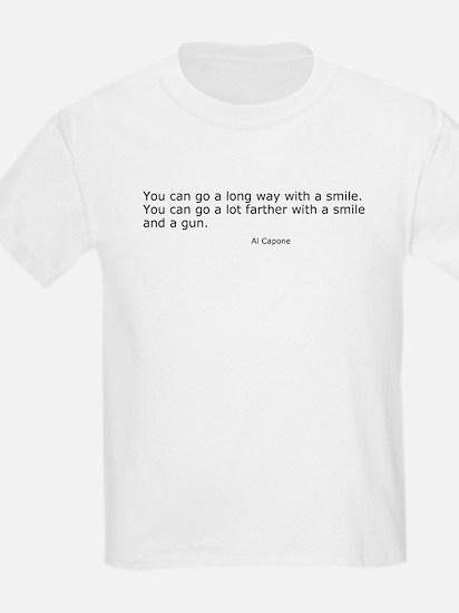 Smile and Gun Kids T-Shirt