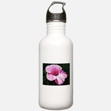 Pink Hibiscus Sports Water Bottle