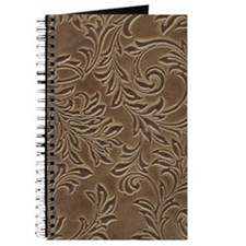 Brown Leather Effect Pattern Journal