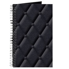 Black Padded Leather effect journal