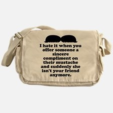 Compliment Her Mustache Messenger Bag