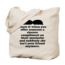 Compliment Her Mustache Tote Bag