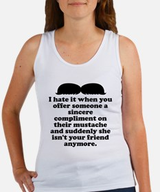Compliment Her Mustache Tank Top