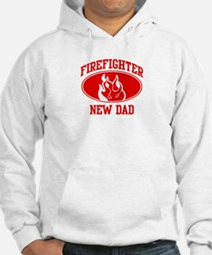 Firefighter NEW DAD (Flame) Hoodie