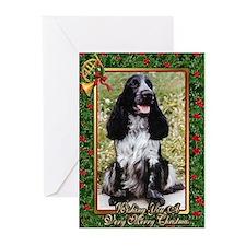 English Cocker Spaniel Dog Christmas Greeting Card