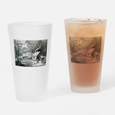 Home in the wilderness - 1870 Drinking Glass