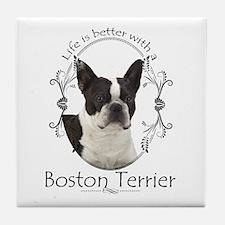 Lifes Better Boston Tile Coaster