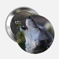 """wolf howling 2.25"""" Button"""