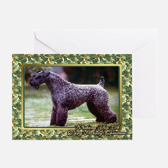 Kerry Blue Terrier Dog Christmas Greeting Cards