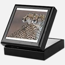 Two Headed Cheetah Keepsake Box