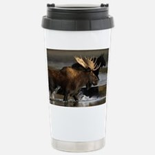 moose splashing in the water Travel Mug