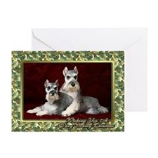 Miniature Schnauzer Christmas Greeting Cards