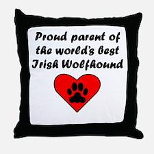 Irish Wolfhound Parent Throw Pillow