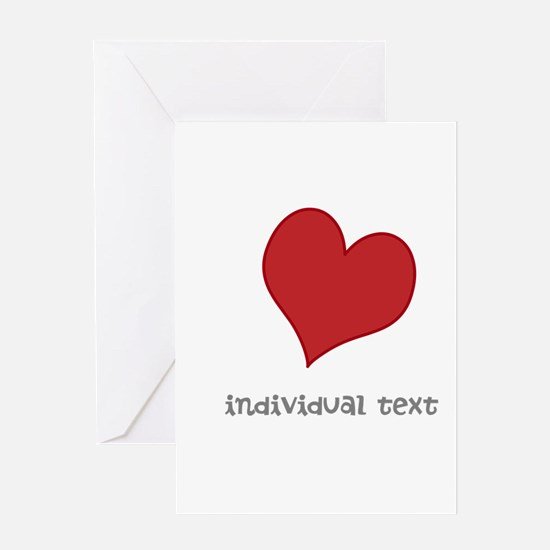 individual text, heart Greeting Cards