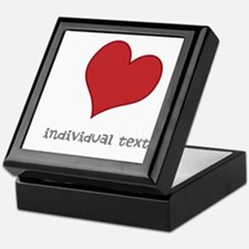 individual text, heart Keepsake Box