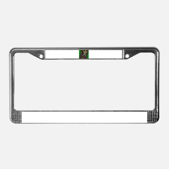 Star Man in Static Field by B License Plate Frame
