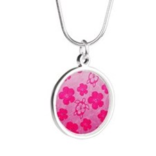 Pink Honu and Hibiscus Necklaces