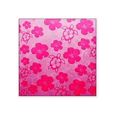 Pink Honu and Hibiscus Sticker