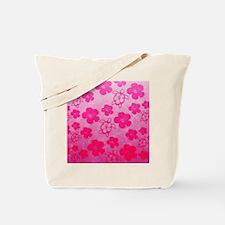 Pink Honu and Hibiscus Tote Bag