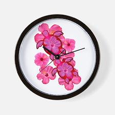 Hawaiian Honu And Hibiscus Wall Clock