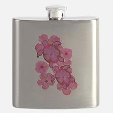 Hawaiian Honu And Hibiscus Flask