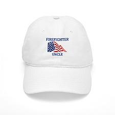Firefighter UNCLE (Flag) Baseball Cap