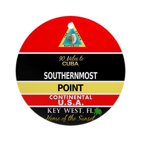 Southernmost Point Buoy Key West Ornament (Round)