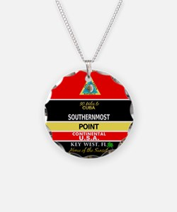 Southernmost Point Buoy Key West Necklace