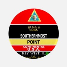 "Southernmost Point Buoy Key West 3.5"" Button"