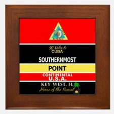 Southernmost Point Buoy Key West Framed Tile