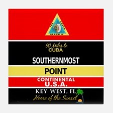 Southernmost Point Buoy Key West Tile Coaster