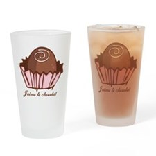 J'aime Chocolat Drinking Glass