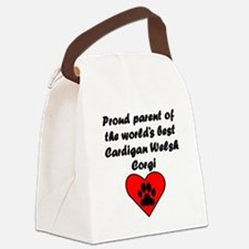 Cardigan Welsh Corgi Parent Canvas Lunch Bag