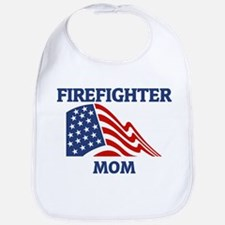 Firefighter MOM (Flag) Bib