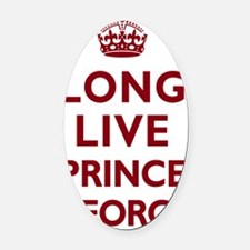 Long Live Prince George - Red on W Oval Car Magnet