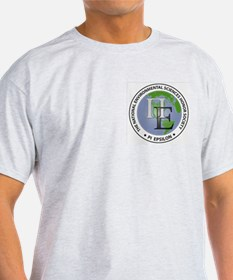 Pi Epsilon 3D Logo & Motto Ash Grey T-Shirt