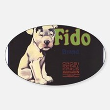Fido Vintage Fruit Vegetable Crate Label Decal