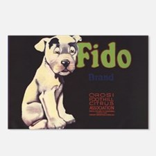 Fido Vintage Fruit Vegetable Crate Label Postcards