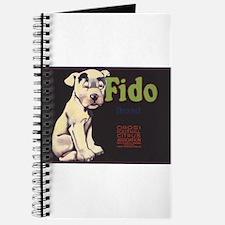 Fido Vintage Fruit Vegetable Crate Label Journal