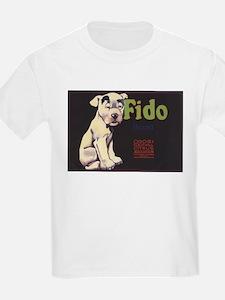 Fido Vintage Fruit Vegetable Crate Label T-Shirt