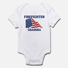 Firefighter GRAMMA (Flag) Infant Bodysuit